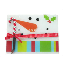Christmas snowman tempered glass bread board cutting board