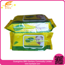 with plastic cover 80pcs organic and antibacterial Wet Wipes for baby