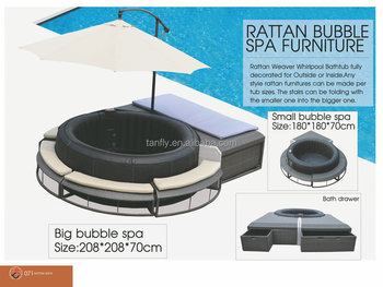 New Design Poly Rattan Bubble Spa Furniture For Inflatable
