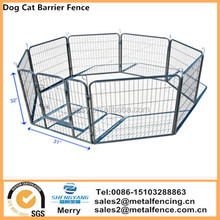 "8 Panel 32"" Large Heavy Duty Metal Play Pen Kennel Cage Pet Dog Cat Barrier Fence"