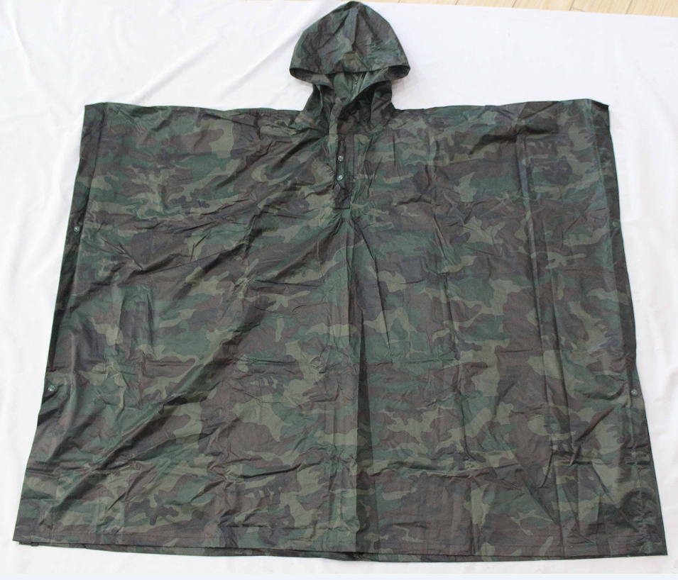 Army Camouflage Raincoat /rain poncho Men Camo Hunter Waterproof Rain Cover 210T Military Tactical Cycle Rain Jackets