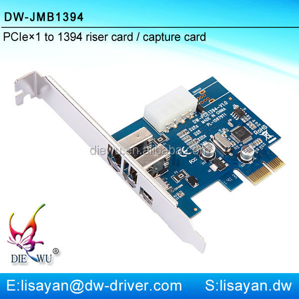 Double power sourse PCI express x1 to 1394 video capture card