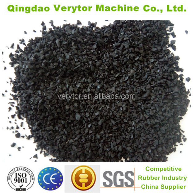 2016 hot sale recycled tyre SBR rubber granules, crumb rubber