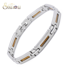 316L Stainless Steel Mens Jewelry Gold Cable Wire Bracelet
