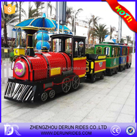 Wonderful outdoor tourist diesel trackless train,amusement park road train for sale