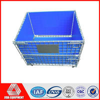 stackable steel storage galvanized wire mesh cages