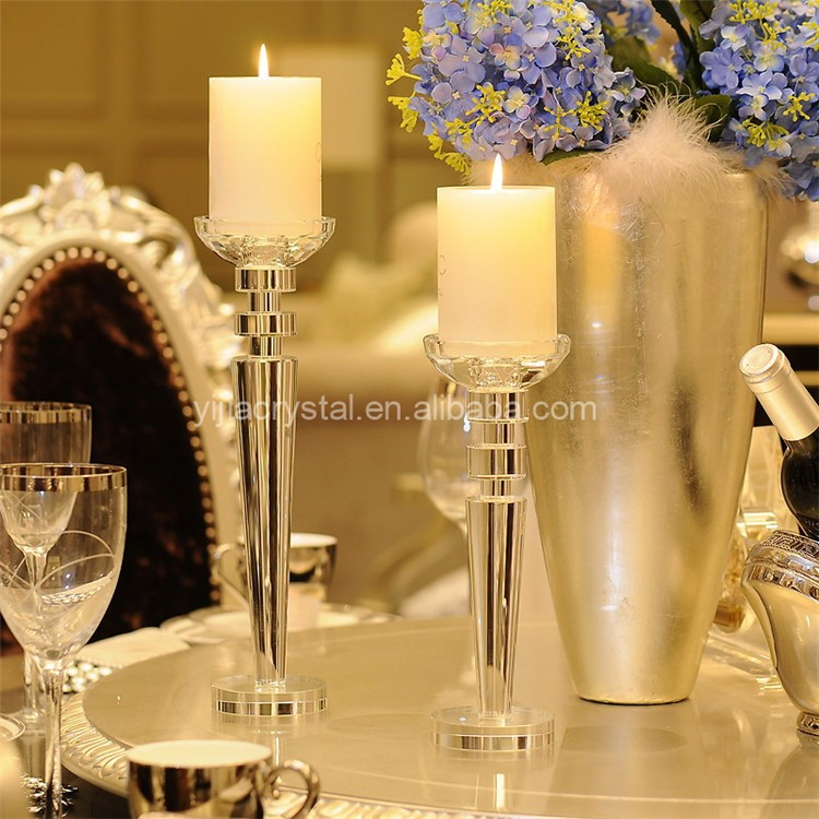 Luxury Tall Wedding Table Centerpieces Crystal Votive Candle Holder For Weddings