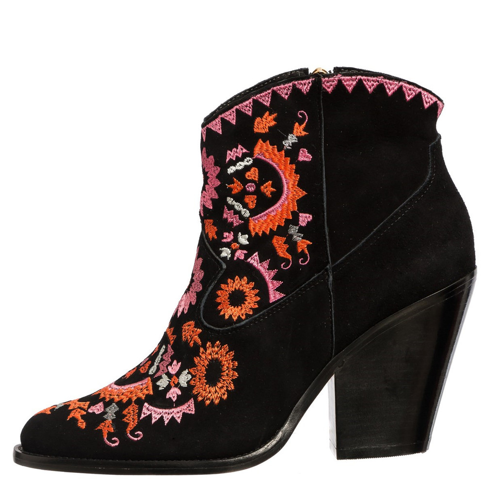 women beautiful high heel suede china wholesale medium heels embroidered boots