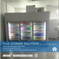MOON blast freezer keep cooling system cold storage cold room glass door displayed