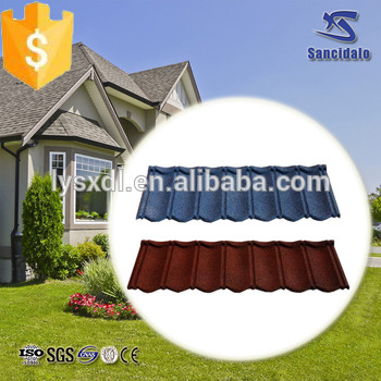 China cheap sand cover roof tiles