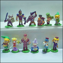 coustom plastic The Legend of Zelda action figure, custom 3d Zelda plastic toys direct factory,custom action figure manufacture