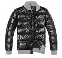 men hood padding shiny winter warm jacket/coat stock