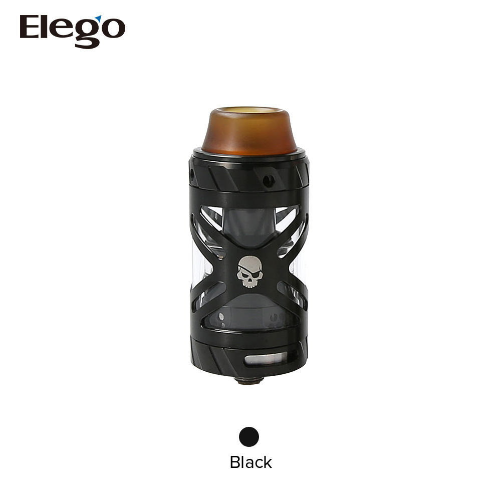 Wholesale Tesla 3ml Electronic Vaporizer E Vapor Teslacigs UFO RTA with Black, SS colors