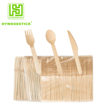 Natural Color Food Safe Handle Wooden Cutlery Set Spoon Fork Knife