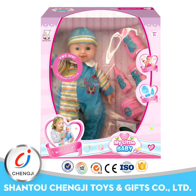 Wholesale new design cute 14 inch crying silicone baby doll for sale