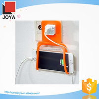 Colorful Foldable Wall Charger silicon phone holder for promotion