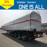 Capacity 25m3-60m3 fuel oil lorry tanker trailer for sale