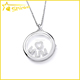 fashionable high quality solid silver AAA zircon mom pendant necklace