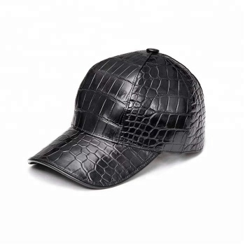 Authentic Alligator/Crocodile Skin Hat Baseball Cap