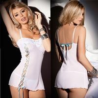 Wholesale factory mesh women white girls for women erotic clothing plus size teddy bodysuit lingerie in china