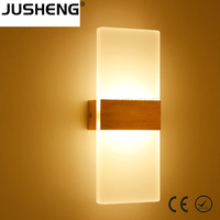 2017 Industrial Aluminum LED Light Acrylic Wall Sconce Lights Fixture For Bedroom Living Room
