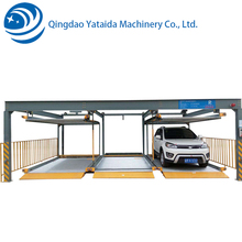 2 floor auto parking garage multi floors automated car park lift sliding system for car parking