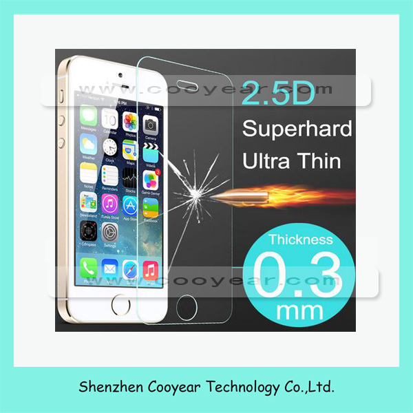 Tempered Glass Screen Protector For Apple iPhone 5 5S 5C 5G Ultra Thin HD Toughened Protective Film