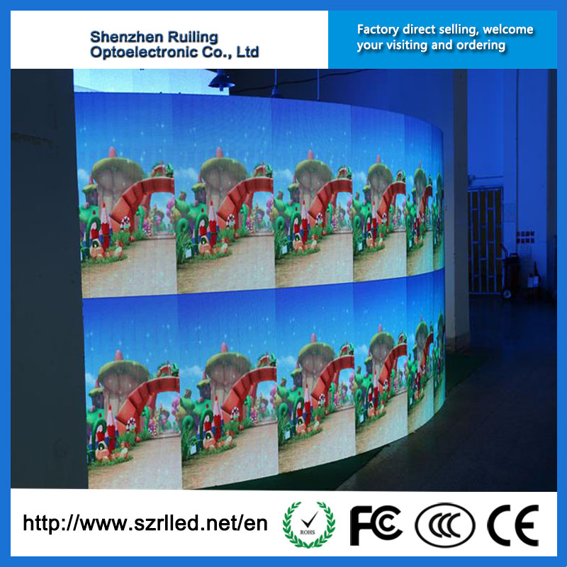 Hot sale Ruiling 128*128mm module cylinder P4 LED screen