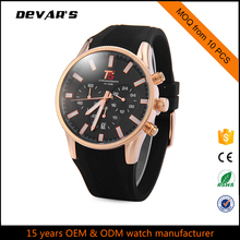 Alloy Case Silicone band Chronograph Watch OEM watch available