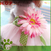 Wholesale High Quality Pretty Pet Clothes Dress Dog Flower Dress Home Of Pet Brand Fashion Eco-friendly Pet Dress For Small Dog