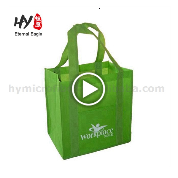 Eco-friendly customized ecological nonwoven grocery bag