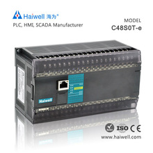 New design Haiwell C48S0T-e 48pionts low cost PLC controller for servo motor with Ethernet port