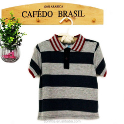2017 Bamboo baby children clothing boys summer knitted T-shirt