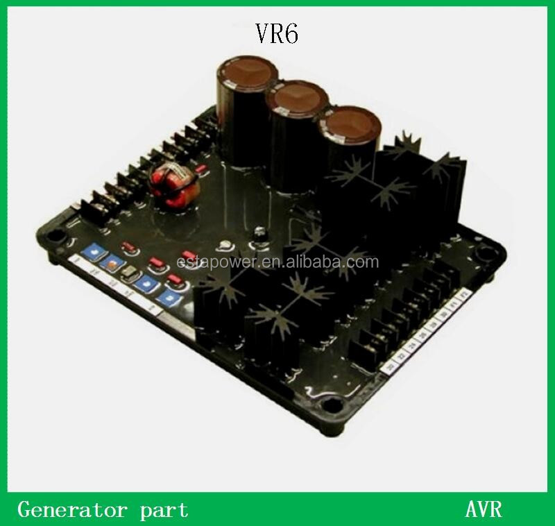 AVR VR6 power ac brushless Generator