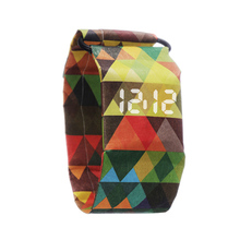 Custom Boy Girl kids Paper Strap Digital Wrist Watch Tyvek Waterproof LED Paper Watch for Men Women
