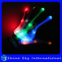 Alibaba China New Coming Wholesale Fabric Led Flashing Gloves
