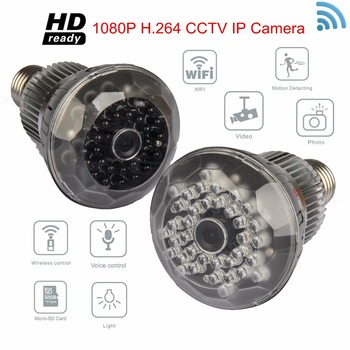 Hot selling HD1080P Night Vision WiFi Light Bulb Hidden Camera & Motion Recorder CCTV Security Wifi Camera Bulb