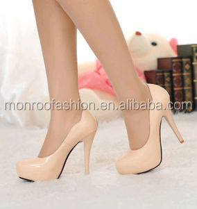 Monroo 2014 new Fashion small round toe thin heeled women's shoes
