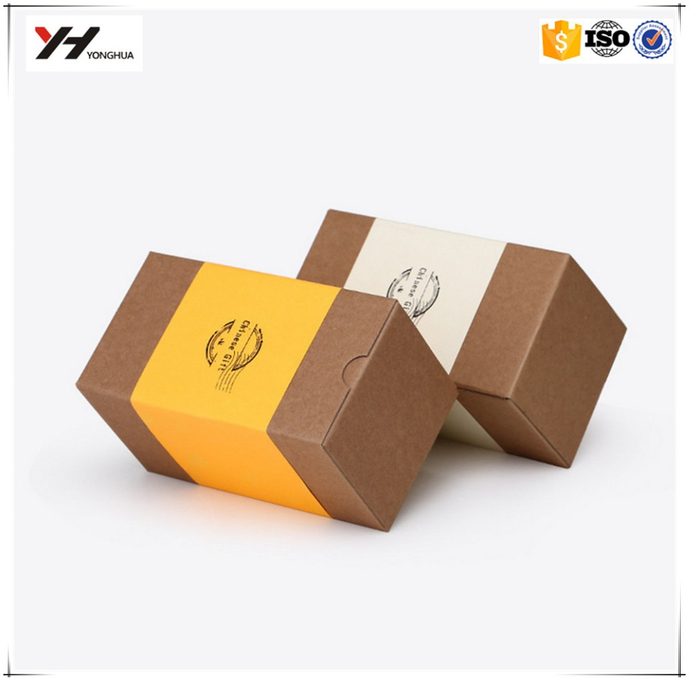 wholesale <strong>custom</strong> recycled small folding kraft gift paper box creative paper packaging box