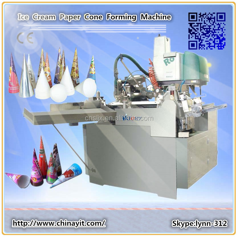 2014 New High Quality Ice Cream Cone Cup Forming Machine Ice Cream Paper Cone Sleeve Making Machine (SJB)