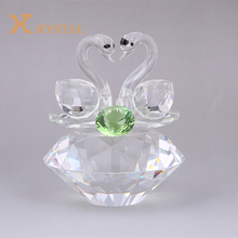Professional Design Wholesale Custom Polished Souvenir Crystal Swan