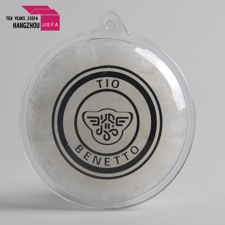 Hot selling inflation oval shape ball pvc feather tag in garments