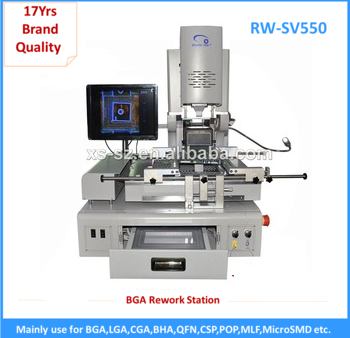 BGA hot air automatic rework station with display and pcb clamp