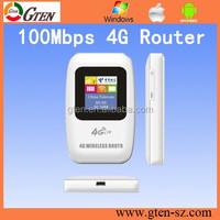 FREE setting 100Mbps LTE wifi hotspot 4g unlocked 3G Router fall back 2G GSM
