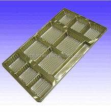 Metalized gold PVC sheet for vacuum forming , food tray use