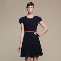 2014 summer new Korean short-sleeved chiffon dress,wholesale clothing distributors