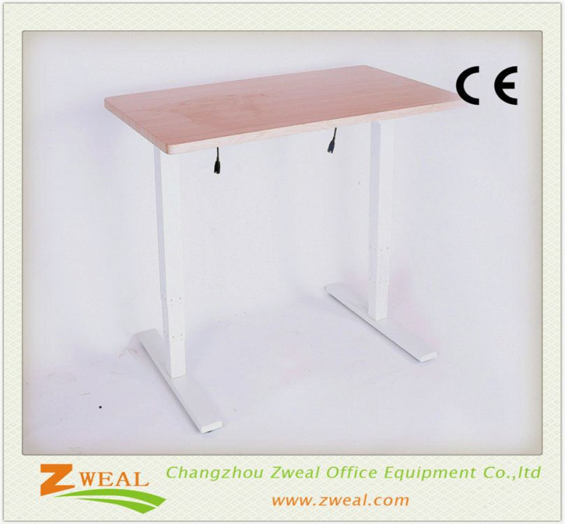 used modern office furniture Zweal height adjustable desk manual cranked sit stand frame