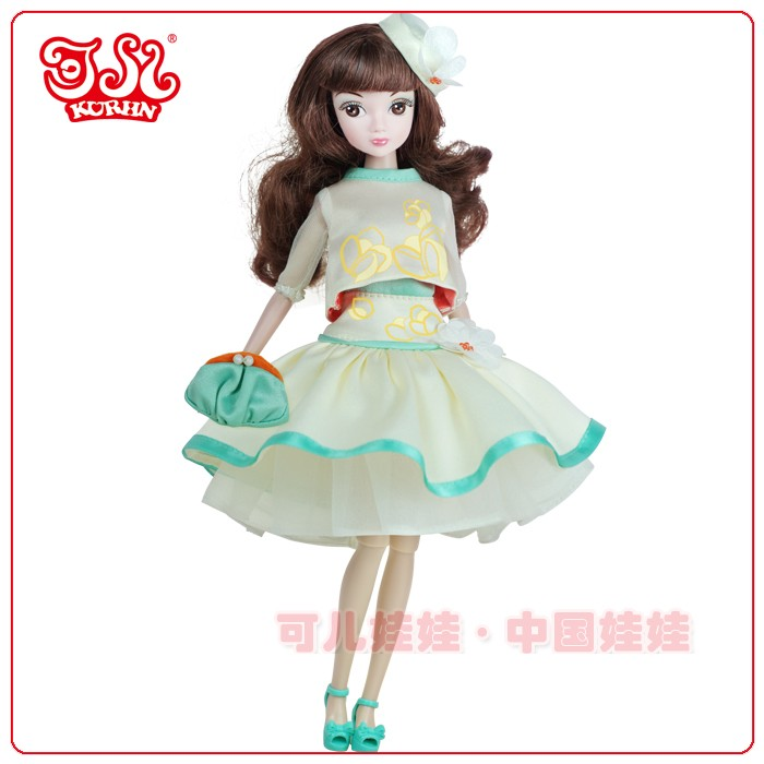 11.5 inch Chinese style girl doll plastic doll
