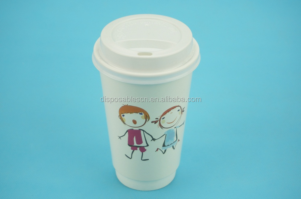 16oz Disposable Double Wall Coffee Paper Cup