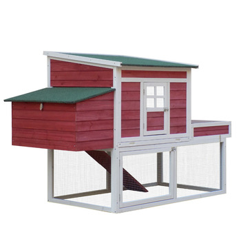 "68"" Farmhouse Wooden Chicken Coop"